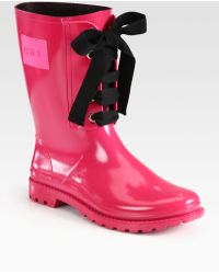 RED Valentino Laceup Rainboots - Lyst