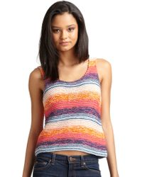 Torn Joy Knit Cropped Tank - Multicolor