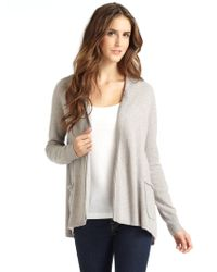 Vkoo - Cashmere Hooded Openfront Cardigan - Lyst