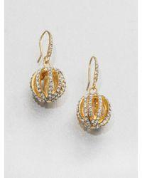 ABS By Allen Schwartz - Paveacute Ball Drop Earrings - Lyst