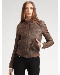 D&G Lambskin Motorcycle Jacket - Lyst