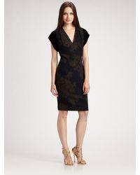 Etro Velvet Cap Sleeve Floral Dress - Lyst