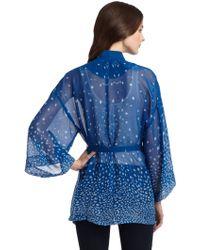 GAR-DE - Silk Wrap Kimono Jacket - Lyst
