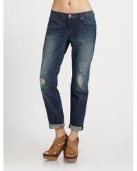 J Brand Aidan Distressed Boyfriend Jeans - Lyst