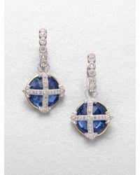 Jude Frances Semiprecious Multistone Earring Charmdark Blue - Lyst