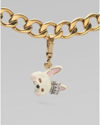 Juicy Couture Bunny Mask Charm - White