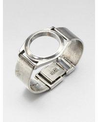Low Luv by Erin Wasson Watchinspired Cuff Bracelet - Metallic