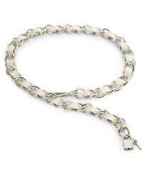 Boutique Moschino Ribbon Chain Belt - Metallic