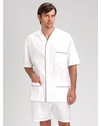Saks Fifth Avenue - Shorty Poplin Pajama Set - Lyst