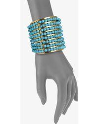 Aerin Erickson Beamon Turquoise Cuff Bracelet - Blue