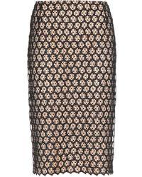 Alexander McQueen Lace Pencil Skirt - Lyst