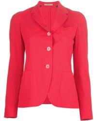 Boglioli Button Blazer - Red