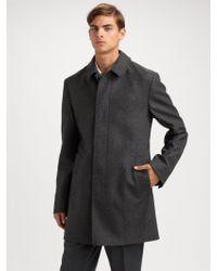 Burberry Wool Coat - Lyst