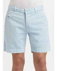 Diesel Cotton Garbadine Shorts - Lyst