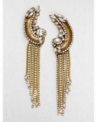 Erickson Beamon Bette Encrusted Tassel Drop Earrings - Lyst