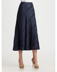 Lafayette 148 New York Striped Flare Skirt - Lyst