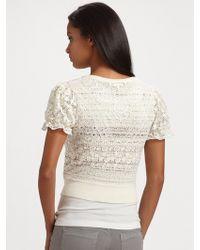 Leifsdottir - Lace Crochet Cardigan - Lyst