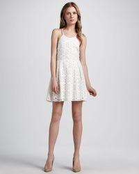 Madison Marcus - Eyelet Sleeveless Dress - Lyst