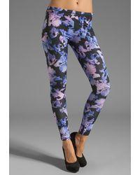 McQ by Alexander McQueen Printed Leggings in Black-Cobalt-Pink - Lyst