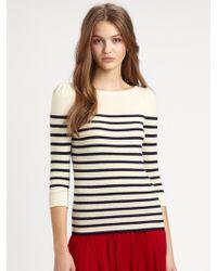 Ralph Lauren Blue Label Cashmere Striped Sweater - Blue