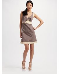 See By Chloé Twotone Bow Front Dress - Lyst