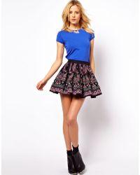 ASOS Collection Asos Skater Skirt in Folk Print - Lyst