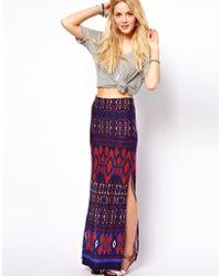 ASOS Collection Asos Maxi Skirt in Aztec Print - Lyst