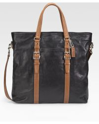 Coach Harrison Leather Tote - Lyst