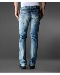 Emporio Armani Slim Fit Classic Vintage Jeans Golden Spot - Blue