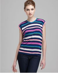 Marc By Marc Jacobs Top Smash Stripe Jersey - Lyst