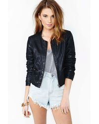 Nasty Gal Dark Rider Leather Jacket - Lyst