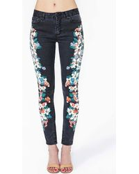 Nasty Gal Night Bloom Jeans - Lyst