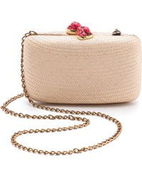One By Jen Straw Minaudiere - Natural