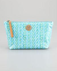 Tory Burch Dragonfly Checkprint Cosmetic Case - Lyst