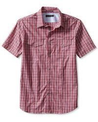 Banana Republic Short Sleeve Check Utility Shirt - Lyst