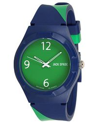 Jack Spade - Navy Green Repp Stripe Rubber Strap with Solid Green Face - Lyst