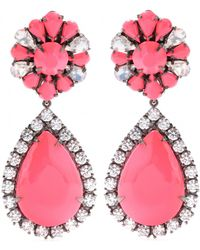 Shourouk Roma Embellished Earrings - Multicolor