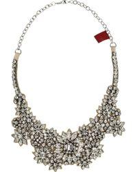 Valentino Jewel Flowers Swarovski Crystal Necklace - Lyst