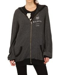 Wildfox French Terry Zip-Up - Grey