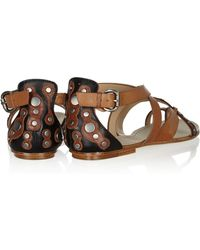 Belle By Sigerson Morrison - Tamila Embellished Leather Sandals - Lyst