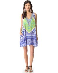 Camilla Short Cover Up Dress with Pocket - Lyst