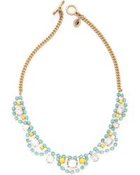 Juicy Couture | Rhinestone Bib Necklace | Lyst