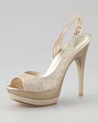 Pelle Moda Gleam Glitter Platform Sandal - Lyst