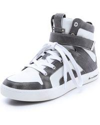 Balmain Austin High Top Sneakers - Lyst