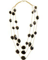 Pippa Small - Hematite Triple Strand Necklace - Lyst