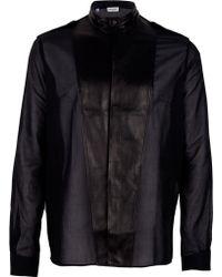 Saint Laurent Mandarin Collar Shirt - Lyst
