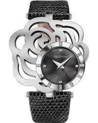 Valentino Rosier Stainless Steel Watch - Black