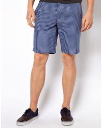 Ben Sherman Shorts in Check Print - Blue