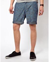 Ben Sherman Shorts in Floral Print - Blue