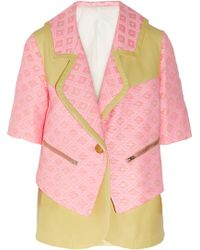 Creatures of the Wind - Woven Raffia and Leather Jacket - Lyst